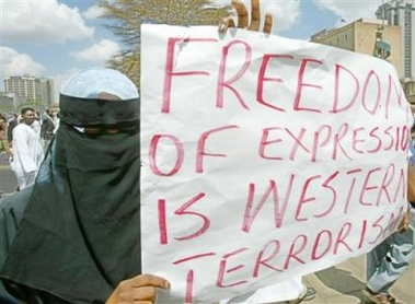 FREEDOM OF EXPRESSION IS WESTERN TERRORISM