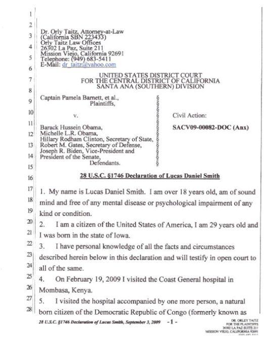 Lucas Smith Affidavit